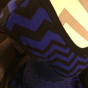 Candies Blue Chevron Short Sleeve Sweater Dress